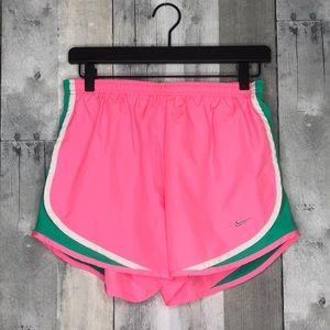 Pink and Green Nike Dri-Fit Shorts Sz M